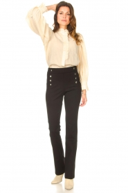 Aaiko |  Flared trousers Solla | black  | Picture 3