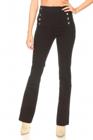 Aaiko |  Flared trousers Solla | black  | Picture 4
