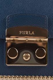 Furla | Leren schoudertas Metropolis Mini | donkerblauw  | Afbeelding 6