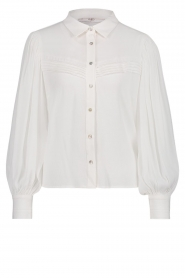Aaiko |  Blouse with puff sleeves Veronica | white  | Picture 1