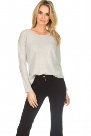 Not Shy | Cashmere sweater Marit | grey  | Picture 2