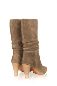 ba&sh :  Suede baggy boots Clem | beige - img4
