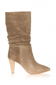 ba&sh |  Suede baggy boots Clem | beige  | Picture 1