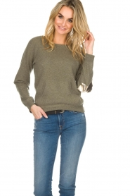 Not Shy | Cashmere sweater Charlotte | green  | Picture 3