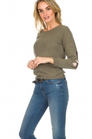 Not Shy | Cashmere sweater Charlotte | green  | Picture 2
