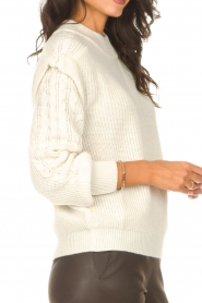 Aaiko |  Knitted sweater with shoulder details Ayla | natural  | Picture 7