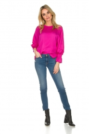Essentiel Antwerp |  Top with playful sleeves Soul | pink  | Picture 3