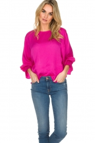 Essentiel Antwerp |  Top with playful sleeves Soul | pink  | Picture 2