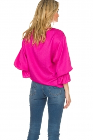 Essentiel Antwerp |  Top with playful sleeves Soul | pink  | Picture 6