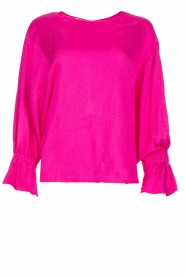 Essentiel Antwerp |  Top with playful sleeves Soul | pink  | Picture 1