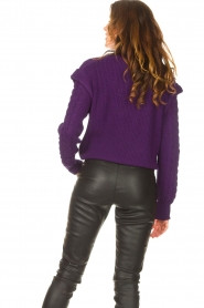 Aaiko    Knitted sweater with shoulder details Ayla   purple    Picture 6