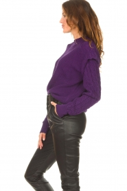Aaiko    Knitted sweater with shoulder details Ayla   purple    Picture 5