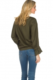 Essentiel Antwerp |  Top with playful sleeves Soul | groen   | Picture 5