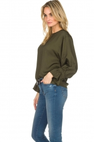 Essentiel Antwerp |  Top with playful sleeves Soul | groen   | Picture 4