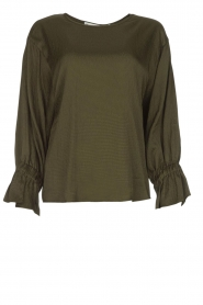 Essentiel Antwerp |  Top with playful sleeves Soul | groen   | Picture 1