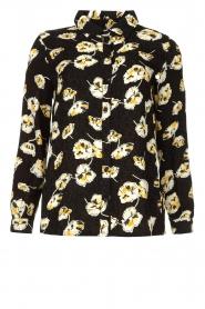 ba&sh |  Floral blouse Una | black  | Picture 1