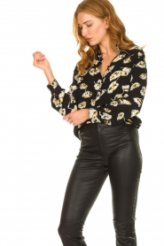 ba&sh |  Floral blouse Una | black  | Picture 2