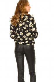 ba&sh |  Floral blouse Una | black  | Picture 7