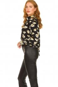 ba&sh |  Floral blouse Una | black  | Picture 6