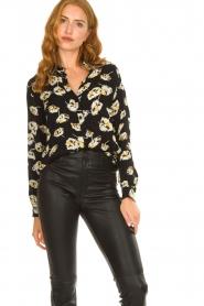 ba&sh |  Floral blouse Una | black  | Picture 5