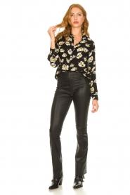 ba&sh |  Floral blouse Una | black  | Picture 3