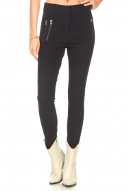 Aaiko |  Legging with pockets Solma | blue  | Picture 4