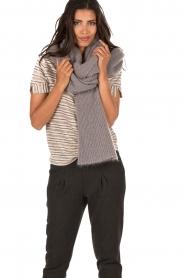 Ruby Tuesday | Wollen sjaal Hoa xl | grijs  | Afbeelding 2