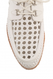 What For |  Leather platform derby Gauthier | white  | Picture 6