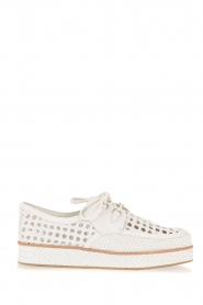 What For |  Leather platform derby Gauthier | white  | Picture 1