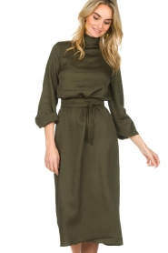 Essentiel Antwerp |  Dress Sapha | green   | Picture 4