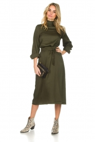 Essentiel Antwerp |  Dress Sapha | green   | Picture 3
