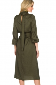 Essentiel Antwerp |  Dress Sapha | green   | Picture 6