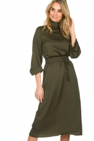 Essentiel Antwerp |  Dress Sapha | green   | Picture 7