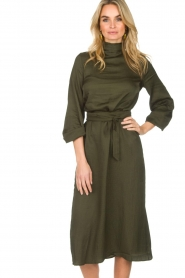 Essentiel Antwerp |  Dress Sapha | green   | Picture 2