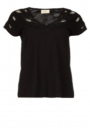 Louizon |  Emrboidered top Adalyna | black  | Picture 1