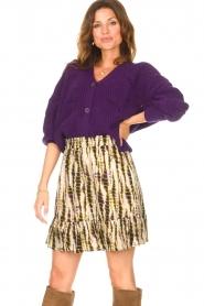 Aaiko |  Tie-dye print skirt Mabel | green  | Picture 2