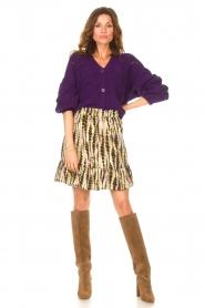 Aaiko |  Tie-dye print skirt Mabel | green  | Picture 3