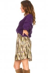Aaiko |  Tie-dye print skirt Mabel | green  | Picture 5