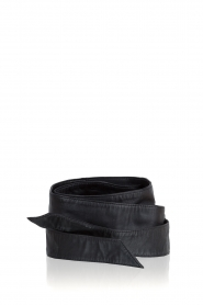 Set |  Leather waist belt Isa | black  | Picture 1