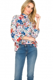 Essentiel Antwerp |  Floral top Saadiq | multi  | Picture 4