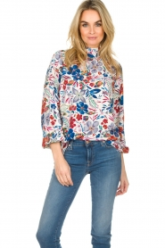 Essentiel Antwerp |  Floral top Saadiq | multi  | Picture 2