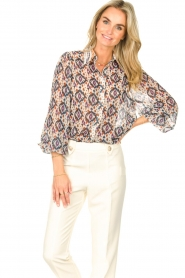 Aaiko    Printed blouse Pillar   white    Picture 2