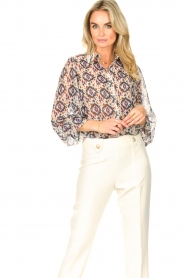 Aaiko    Printed blouse Pillar   white    Picture 4