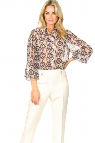 Aaiko    Printed blouse Pillar   white    Picture 5