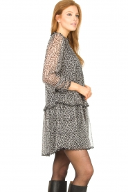 Aaiko |  Print dress with Zarah | black  | Picture 5