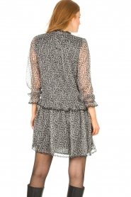 Aaiko |  Print dress with Zarah | black  | Picture 6
