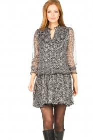 Aaiko |  Print dress with Zarah | black  | Picture 4