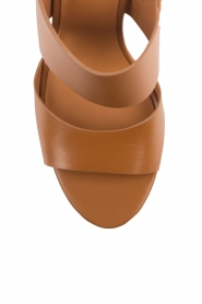 What For | Leren sandalen Chris | camel  | Afbeelding 6