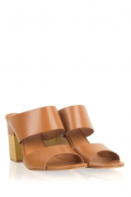What For | Leren sandalen Chris | camel  | Afbeelding 4