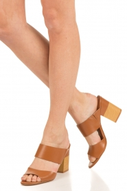 What For | Leren sandalen Chris | camel  | Afbeelding 2